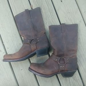 FRYE LEATHER HARNESS BOOTS 77300 SIZE 10